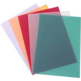 Inbindcovers PolyTechno, polypropeen, wit-doorschijnend, 50 stuks