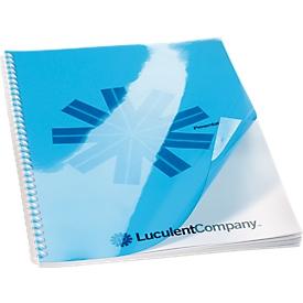 Inbindcovers, PP, voor achterzijde, blauw