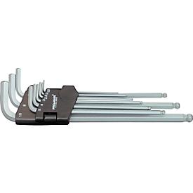 Inbussleutel-set Projahn, 9-delig, voor binnen-6kant 1,5-10 mm, extra lang, chroom-vanadium-staal