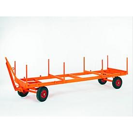 Industriële aanhanger, opleggerbesturing met 1 as, luchtbanden, draagvermogen 3000 kg, 4000 x 1050 mm