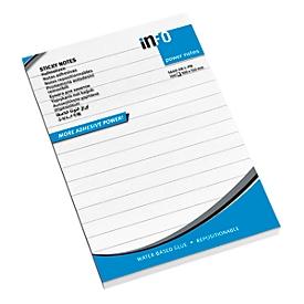 inFO Power Notes Sticky notes, 100 x 150 mm, 100 vellen per pad, 12 pads, gevoerd, wit
