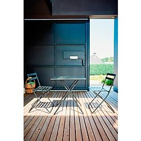 Inklapbare tafel Jan Kurtz Sirio, rechthoekig, B 500 x D 700 x H 730 mm, 9 kg, staal gepoedercoat, zwart