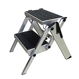 Inklapbare trap, aluminium, 2 treden
