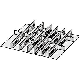 Inrichtingsassortiment, 6 tussenliggers/10 scheidingswanden, 75 mm
