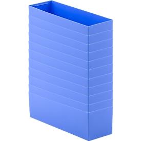 Inzetbak EK 6022 L, PP, blauw, 10 stuks