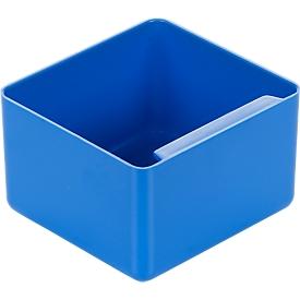 Inzetbak, polystyreen, L 90 x B 96 x H 60 mm, blauw