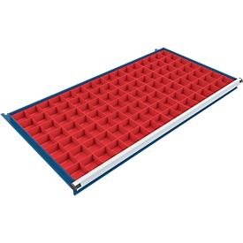 Inzetbakkenset 56 stuks voor ladekast 1330 mm breed passend voor schuifladen met een hoogte van 75/100 mm