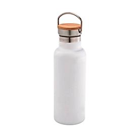 Isolierflasche, Weiß, Standard, Auswahl Werbeanbringung optional