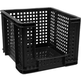 Jaula de transporte Really Useful Boxes, 35 l, apertura delante, negro