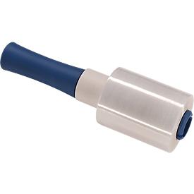 Juego completo 6 rollos de minipelícula retráctil de PE, transparente, anchura 100mm + 1 portarrollos
