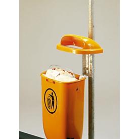 Juego completo papelera/poste, naranja