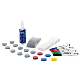 Juego de accesorios para pizarra blanca MAUL Standard, de 31 piezas, adecuado para todas las pizarras blancas
