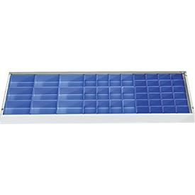 Juego de cajas insertables para armarios de herramientas, 45 piezas, azul