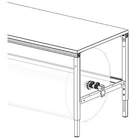 Juego de ejes para mesa de embalaje Hüdig+Rocholz System Flex, para anchura de mesa 1600mm