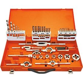 Juego de herramientas de tallado de roscas Projahn, en contenedor metálico, 44 piezas, HSS DIN 352