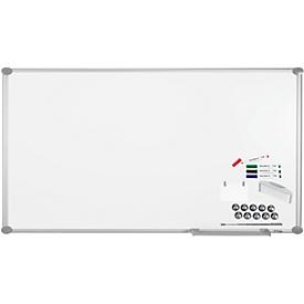 Juego pizarra blanca MAUL Premium 2000, plata, con revestimiento de plástico, 900 x 1800mm