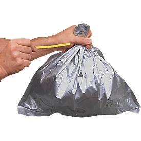 Justrite afvalzakken, voor staande asbakken, aluminium gecoat, 50 stuks