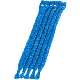 Kabel-klittenbandsluitingen, blauw, 10 stuks