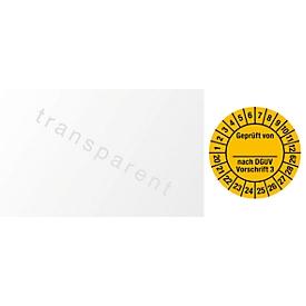 Kabelkeuringsvignet, gekeurd door, volgens DGUV voorschrift 3 (2020-2029)
