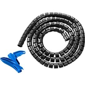 Kabelschutzschlauch Helawrap, 15 mm, schwarz