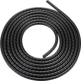 Kabelspiraalslang, zwart