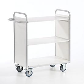 Kantoorwagen met zijwanden, 800 x 500 mm, draagvermogen 150 kg
