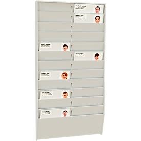 Kartenhalter mit Wandhalterungen, 24 Fächer, Einstecktiefe 5 mm