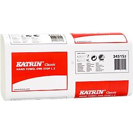 KATRIN FHT Classic One Stop L2 Kwaliteitshanddoeken, wit, 2-laags, 2 x 22 g/m², 235 x 340 mm, aut. enkelvoudig, 2310 stuks