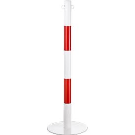 Kettingpaal, 2-delig, wit/rood