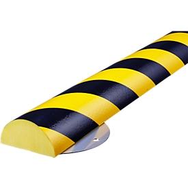 Kit de protección de pared, tipo C+, pieza de 0,5m, amarillo/negro