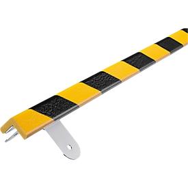 Kit de protección de pared, tipo E, pieza de 1m, amarillo/negro