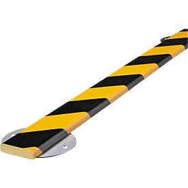 Kit de protección de pared, tipo F, pieza de 1m, amarillo/negro