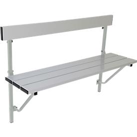 Klapbank, aluminium, L 1200 mm, lichtgrijs (RAL 7035)