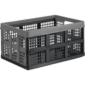 Klappbox für Klappmobil CLAX, 46 l, grau/schwarz