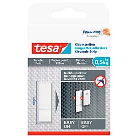 Kleefstrip tesa®, voor hergebruik van de kleefnagel voor behang & pleister met kleefkracht tot 0,5 kg, 2-zijdig, afneembaar, 9 st.
