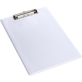 Klembord, A4, kunststof, met ophangoog, wit