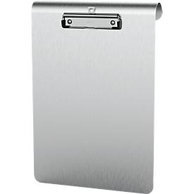 Klemmbrett Maul MAULmedic Format A4 , Klemmweite 8 mm, Aluminium, auch zum Aufhängen, hoch