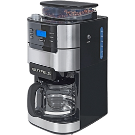 Koffiemachine KA 8102 swi, met maler, 900 W, 1,5 l, zwart-zilver, B 213 x D 314 x H 430 mm