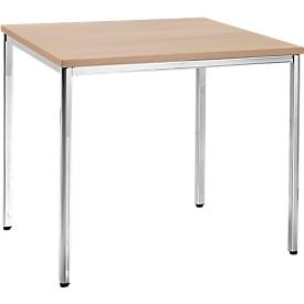 Konferenztisch, 800 x 800 mm, Buche-Dekor