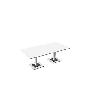 Konferenztisch Quandos, B 2200 x T 1000 mm, weiß