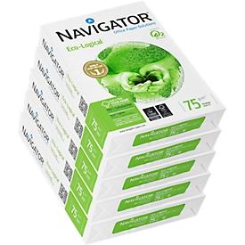 Kopieerpapier Navigator Eco-Logical, A4, 75 g/m², helderwit, 1 doos = 5 x 500 vellen