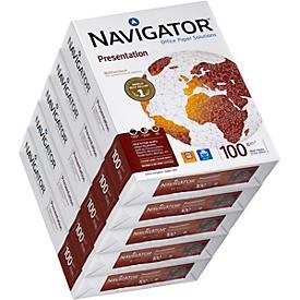 Kopieerpapier Navigator Presentation, A4, 100 g/m², helderwit, 1 doos = 5 x 500 vellen