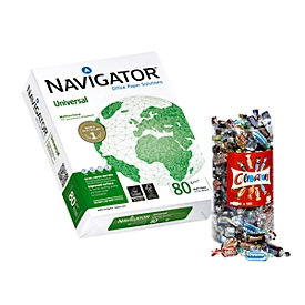 Kopieerpapier Navigator Universal, A4, 80 g/m², wit, 1 doos = 20 x 500 vellen