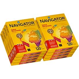 Kopierpapier Navigator Colour Documents, DIN A4, 120 g/m², hochweiß, 1 Karton = 8 x 250 Blatt