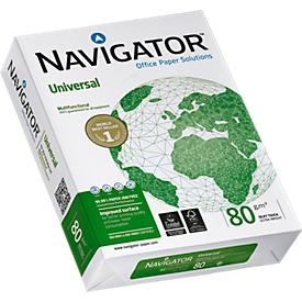 Kopierpapier Navigator Universal, DIN A4, 80 g/m², hochweiß, 1 Karton = 5 x 500 Blatt