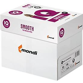Kopierpapier Schäfer Shop IQ Smooth, DIN A4, 80 g/m², hochweiß, 1 Karton = 5 x 500 Blatt