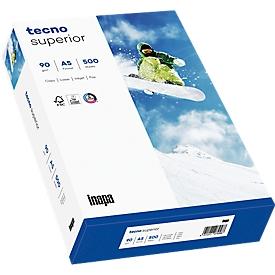 Kopierpapier tecno superior, DIN A5, 80 g/m², hochweiß, 1 Karton = 10 x 500 Blatt