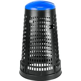 Korbhalterung aus Polypropylen, schwarz/blau