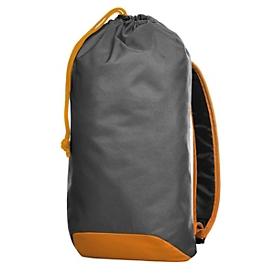Kordel-Rucksack, Grau/Orange, Standard, Auswahl Werbeanbringung erforderlich