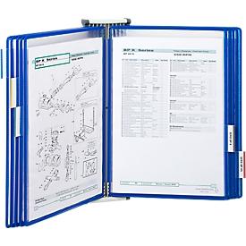 Kpl.-Angebot Wandhalter + 10 Tafeln, blau